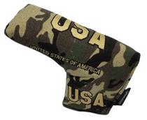 ReadyGolf: Military USA Camo Embroidered Putter Cover - Blade