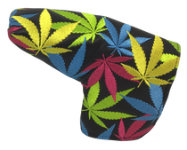 Weed All-Over Embroidered Putter Cover - Blade by ReadyGOLF