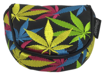 Weed All-Over Embroidered Putter Cover - Mallet by ReadyGOLF