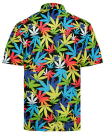 Weed Mens Golf Polo Shirt by ReadyGOLF