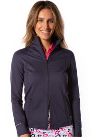 Golftini: Women's Double-Zip Sport Jacket - Navy and White