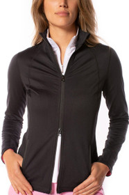 Copy of Golftini: Women's Double-Zip Sport Jacket - Black and Pink