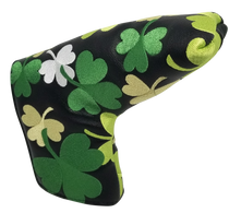 Shamrocks All-Over Embroidered Putter Cover by ReadyGOLF - Blade