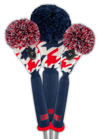 Just 4 Golf: Loudmouth Headcover Set - Red Blue Tooth