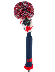 Just 4 Golf: Loudmouth Hybrid Headcover - Red Blue Tooth