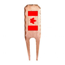 Sunfish: Forged Copper Divot Tool - Canadian Flag