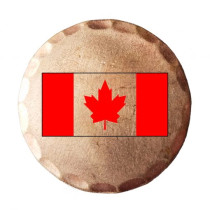 Sunfish: Copper Ball Marker - Canadian Flag