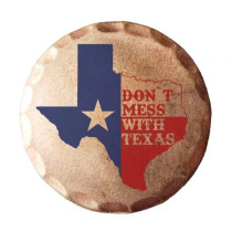 Sunfish: Copper Ball Marker - Don't Mess with Texas