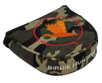 Birdie Hunting Camo Embroidered Putter Cover by ReadyGOLF - Mallet