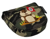 Dancing Gopher Camo Embroidered Putter Cover by ReadyGolf - Mallet
