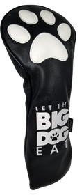 Let The Big Dog Eat (Black) Embroidered Headcover -  Driver