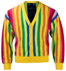 Mens Rainbow Sweater by ReadyGOLF