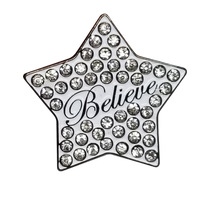 ReadyGolf: Believe Star with Crystals Ball Marker & Hat Clip