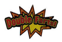 Double Farts Starburst Golf Ball Marker & Hat Clip by ReadyGOLF