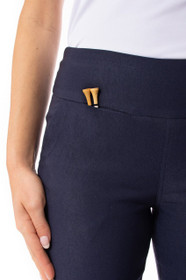 Golftini: Women's Trophy Pull-On Stretch Twill Pant - Navy