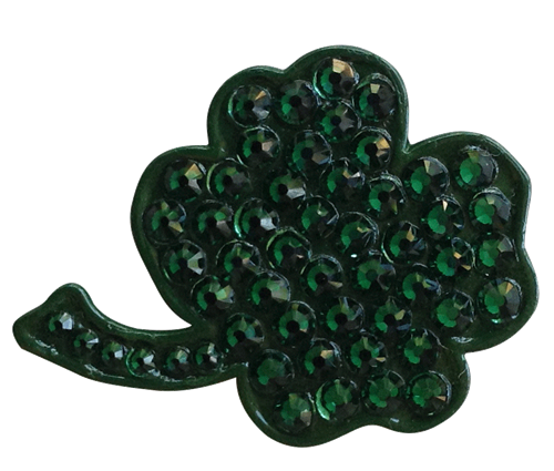 Bonjoc: Ball Marker & Hat Clip - FOUR LEAF SHAMROCK IRISH CLOVER
