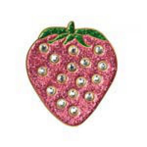 Bonjoc Ball Marker & Hat Clip - Strawberry