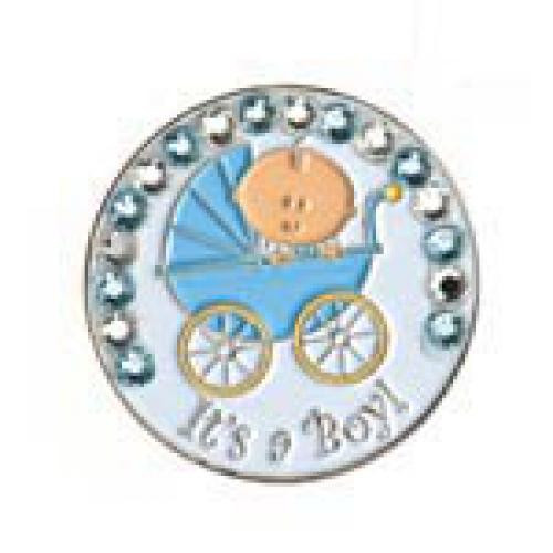 Bonjoc Ball Marker & Hat Clip - IT'S A BOY