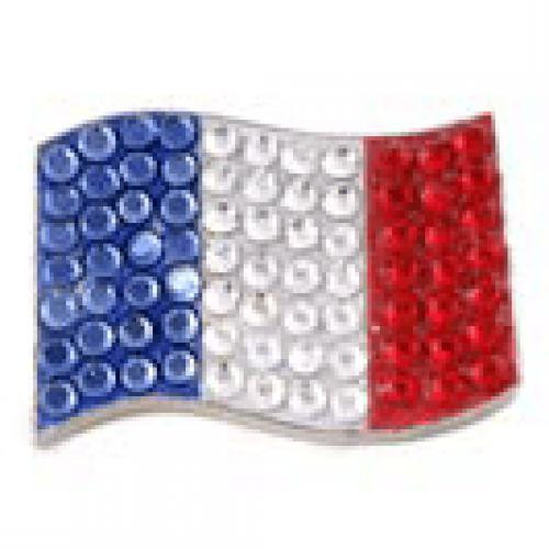 Bonjoc: Ball Marker & Hat Clip - France Flag