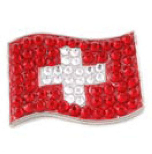 Bonjoc Flag Ball Marker & Hat Clip - SWITZERLAND
