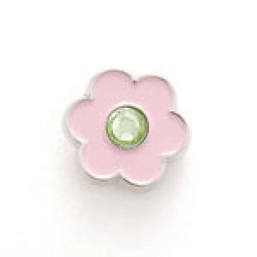 Bonjoc Flower Snap-On Ball Marker Pink with Green Center