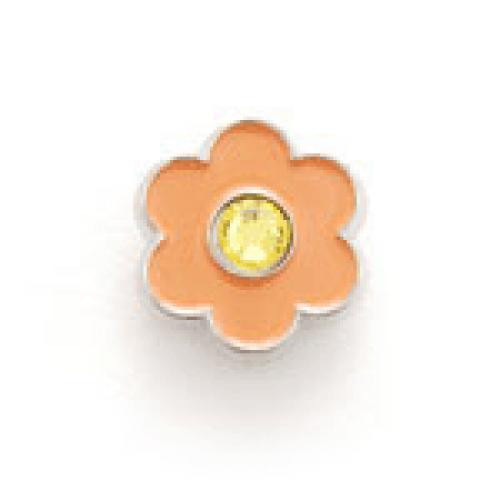 Bonjoc Flower Snap-On Ball Marker Orange with Yellow Center