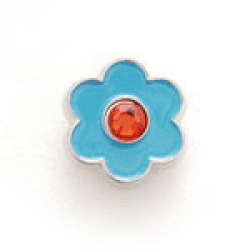 Bonjoc: Snap-On Ball Marker - Flower Blue with Red Center