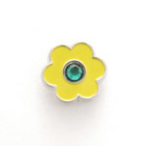 Bonjoc Flower Snap-On Ball Marker Yellow with Green Center