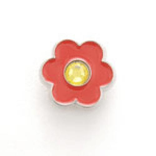 Bonjoc Flower Snap-On Ball Marker Red with Yellow Center