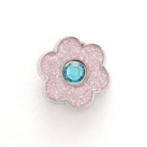 Bonjoc: Snap-On Glitter Ball Marker - Flower Pink with Blue Center