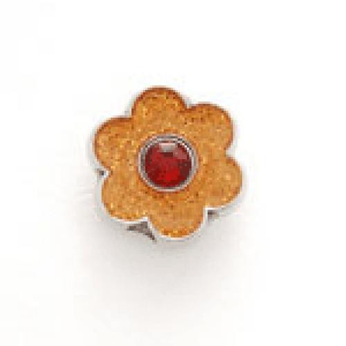 Bonjoc: Snap-On Glitter Ball Marker - Flower Orange with Red Center
