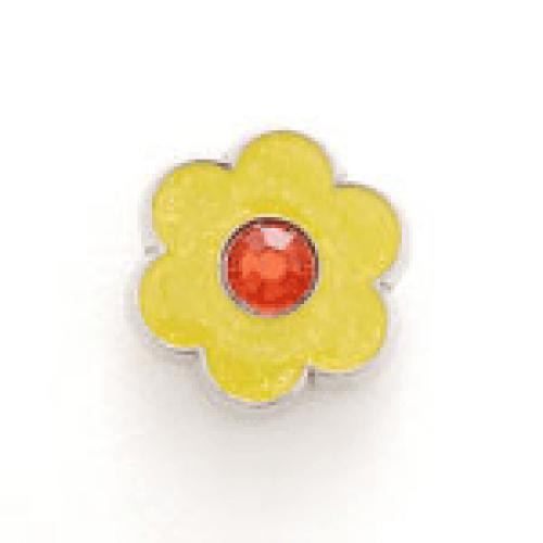 Bonjoc: Snap-On Glitter Ball Marker - Flower Yellow with Orange Center
