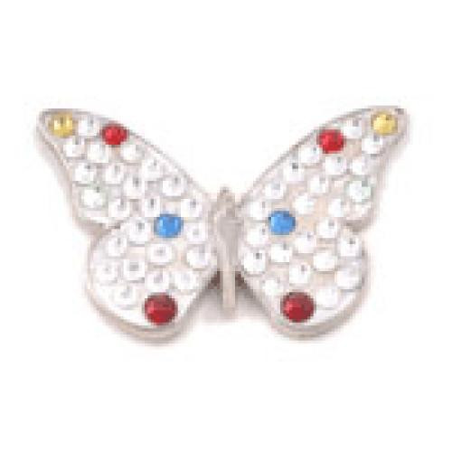 Bonjoc Ball Marker & Hat Clip - WHITE BUTTERFLY