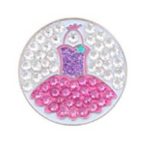 Bonjoc: Ball Marker & Hat Clip - Seema Sparkle Line - TOTALLY TUTU
