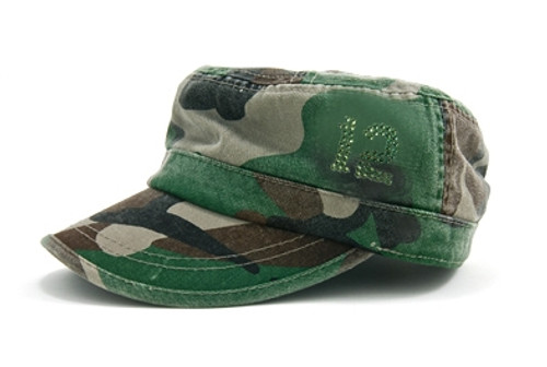 """Dolly Mama"""" Ladies Fidel Military Cap - 12th WoMan on Camo"""