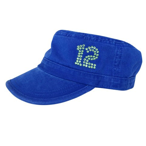 Dolly Mama: Ladies Fidel Military Cap - 12th WoMan on Blue