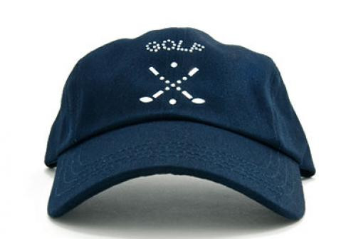 Dolly Mama: Ladies Baseball Hat - Cross Clubs on Navy