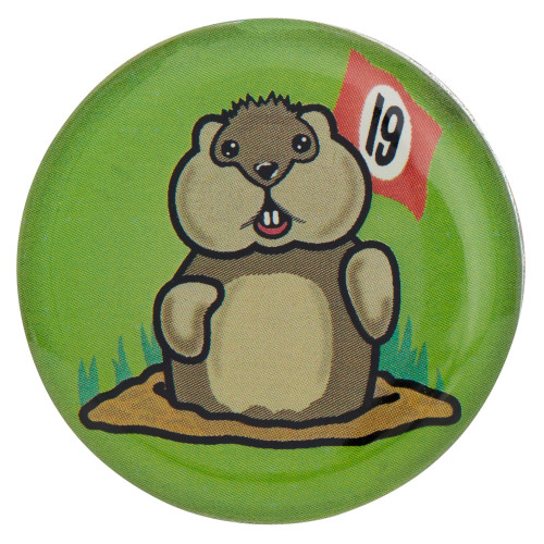 19th Hole Dancing Gopher Golf Ball Marker & Hat Clip by ReadyGOLF