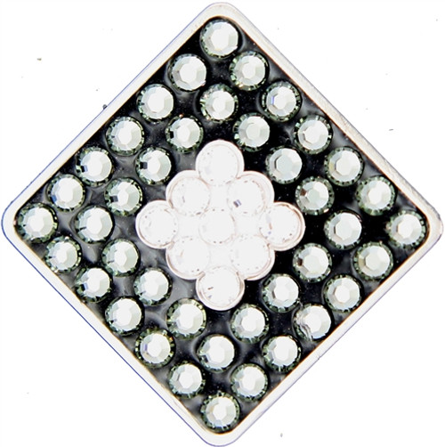 BELLA Swarovski Crystal Ball Marker & Hat Clip - SQUARE - Clear