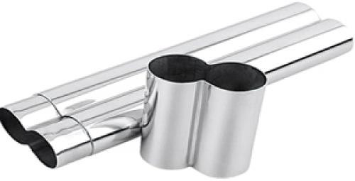Stainless Steel Double Cigar Tube - Holds 2 Cigars