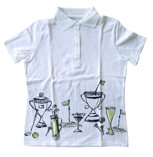 Line-Up for Sport: Short Sleeve Polo (Winner's Cup on White)