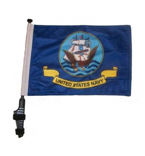 SSP Flags: 11x15 inch Golf Cart Flag with Pole - Navy