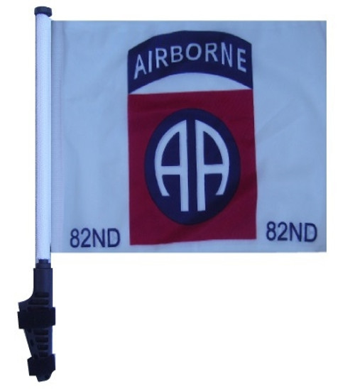 SSP Flags: 11x15 inch Golf Cart Flag with Pole - 82nd Airborne