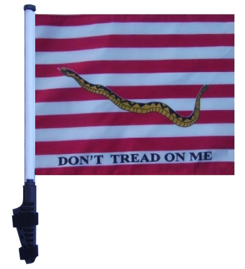 SSP Flags: 11x15 inch Golf Cart Flag with Pole - First Navy Jack