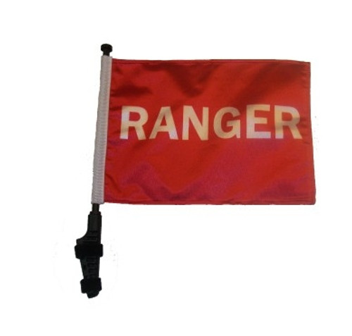 SSP Flags: 11x15 inch Golf Cart Flag with Pole - Ranger
