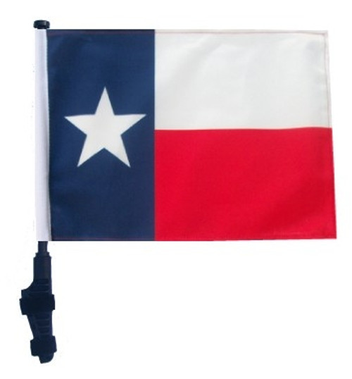 SSP Flags: 11x15 inch Golf Cart Flag with Pole - State of Texas