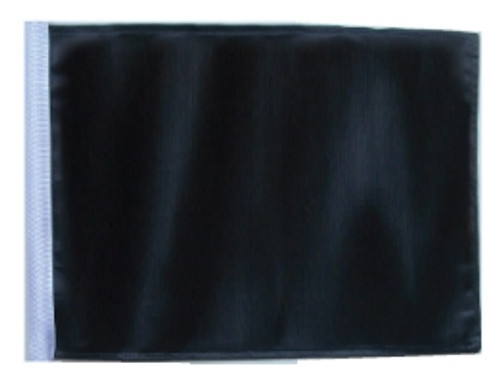 SSP Flags: 11x15 inch Golf Cart Replacement Flag - Black