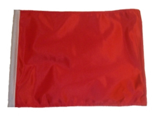 SSP Flags: 11x15 inch Golf Cart Replacement Flag - Red