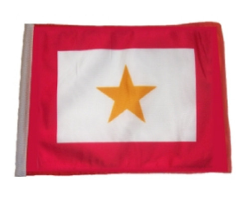 SSP Flags: 11x15 inch Golf Cart Replacement Flag - Gold Star