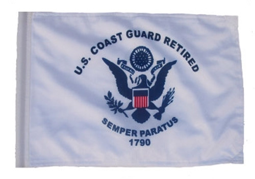 SSP Flags: 11x15 inch Golf Cart Replacement Flag - Retired Coast Guard